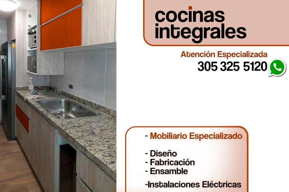COCINAS INTEGRALES A LA MEDIDA, muy funcionales y bellas ASESORÍA,FABRICACIÓN Y ENSAMBLE