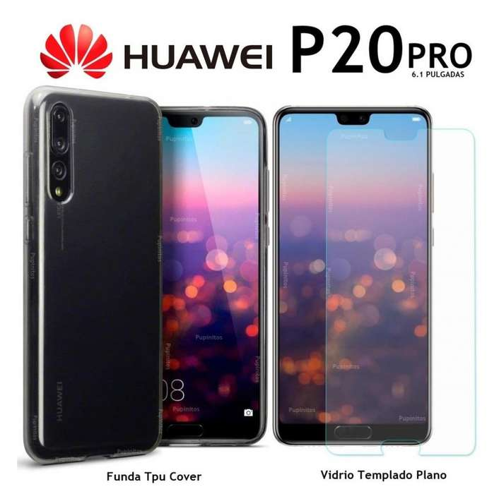 Funda Tpu Silicona Vidrio Templado Huawei P20 Pro Rosario