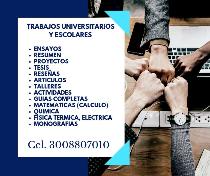 Asesorias universitarios, trabajos academicos, apoyo escolares
