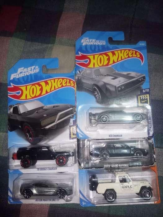 5 Autos Hot Wheels Rapidos Y Furiosos