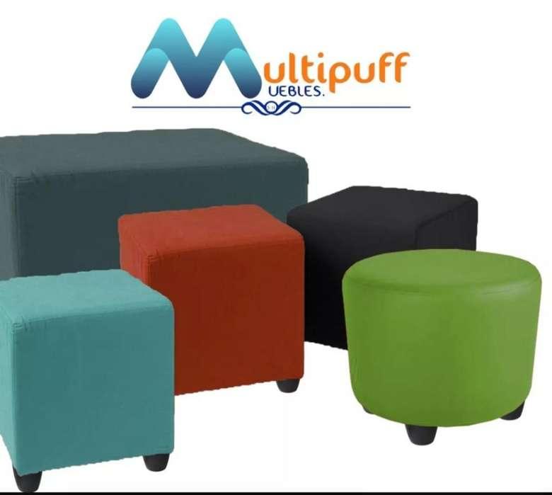 Multi Puff Silla-cuadrados Y Redondos