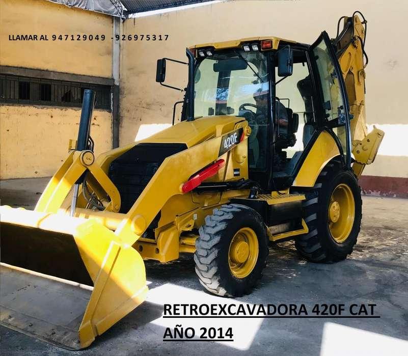 RETROEXCAVADORA 420F CAT AÑO 2014
