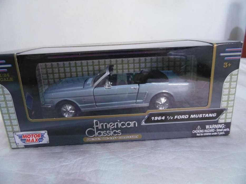 Ford mustang 1964 convertible carro coleccion escala 1:24