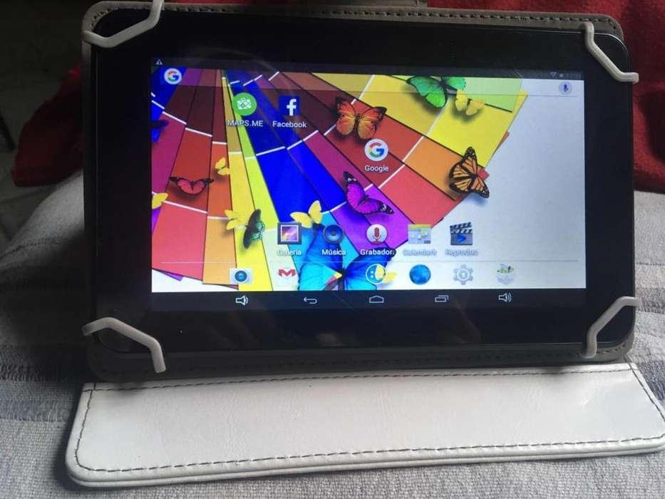 Tablet PC Android 7 con funda ecocuero