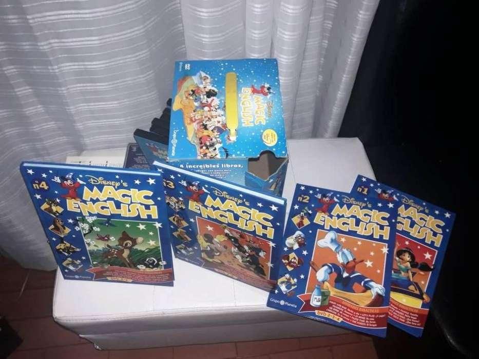 Enciclopedia Interactiva Magic English Disney Dvd Y Libros