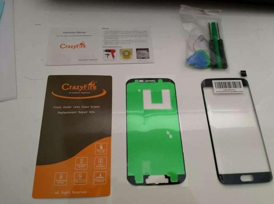 Pantalla De Cristal Para Samsung S6 Edge Con Kit