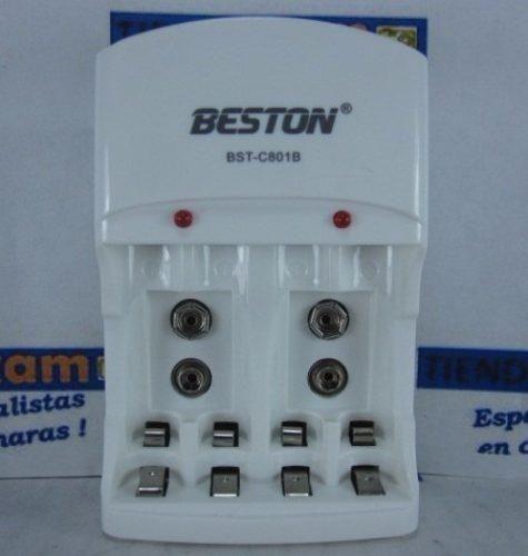 Cargador Beston Bstc801b SOLO Sin pilas Para cargar Baterias Aa Aaa 9v se entrega sin baterias