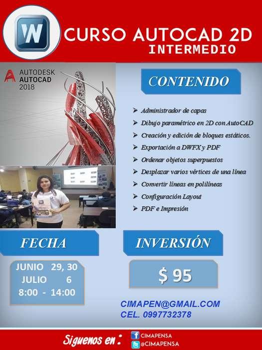 CURSO INTENSIVO <strong>autocad</strong> 2D NIVEL INTERMEDIO