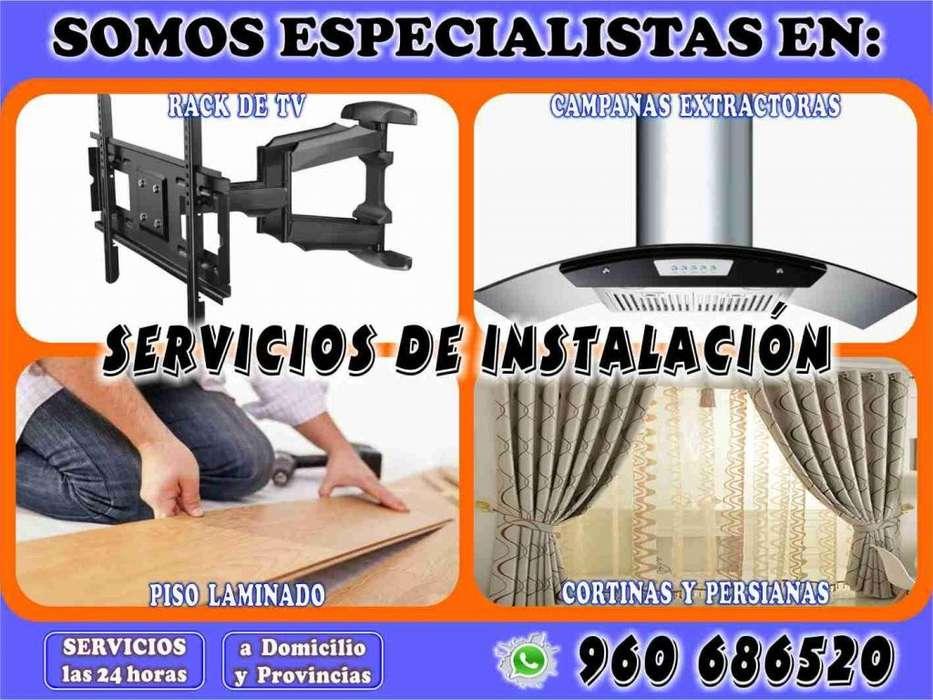 Servicio de Instalación de Racks, Campanas Extractoras, etc.