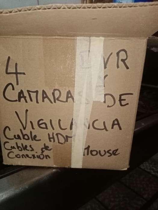 4 Cámaras de Vigilancia con Dvr