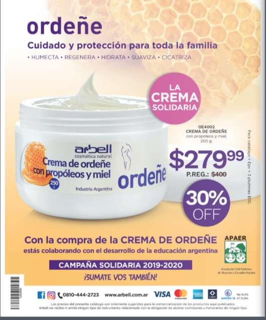 Arbell, Crema de Ordeñe, Hidratante
