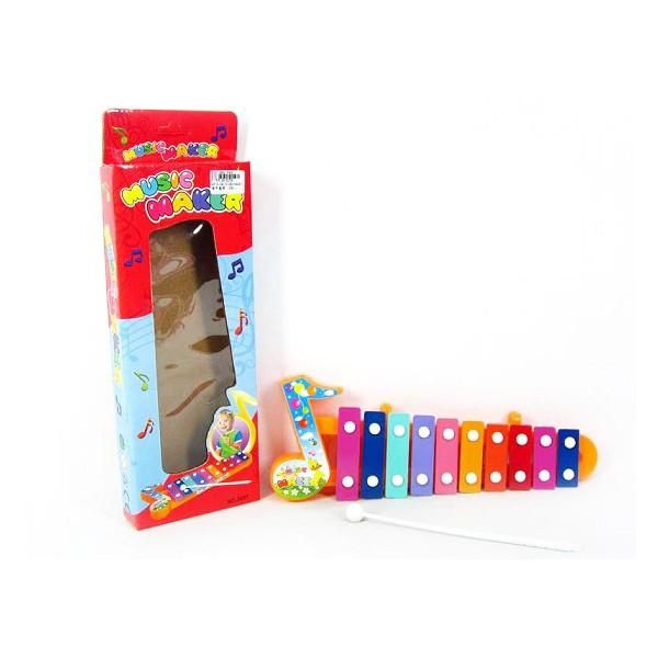 Juguete Musical Xilófono Niños 10 Notas Multicolor Marimba