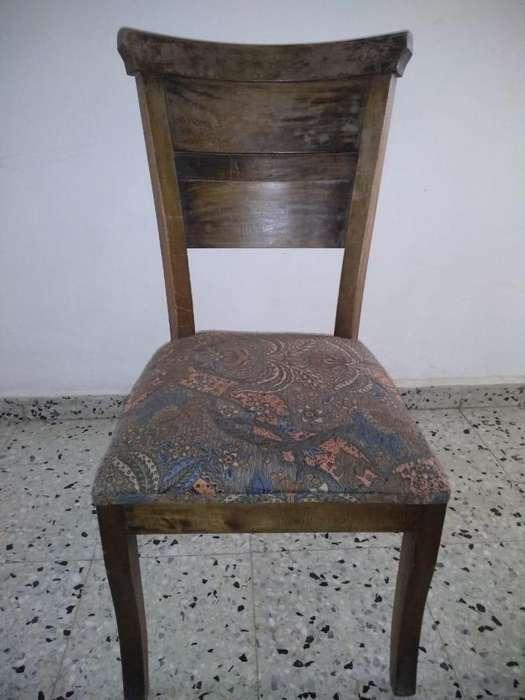 Juego de 6 <strong>silla</strong>s de Madera Estilo Rustico en Roble Macizo, Robusto Secado e Inmunizado