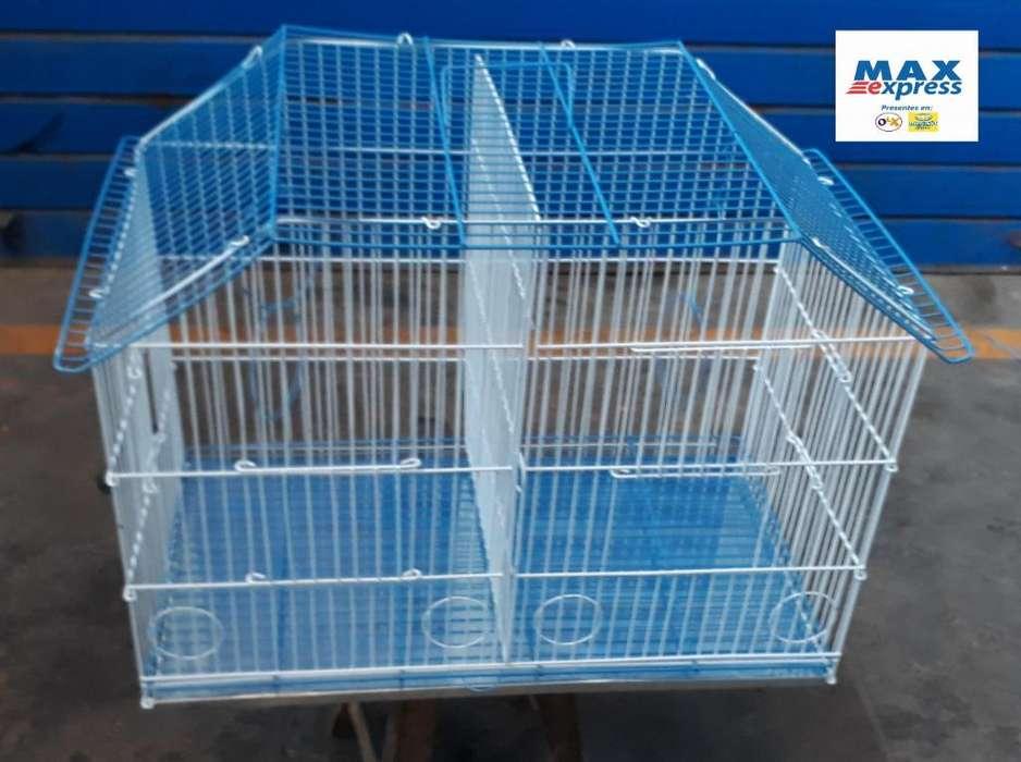 Jaula Doble N2 para Aves Canario Periquitos Agapornis Delivery