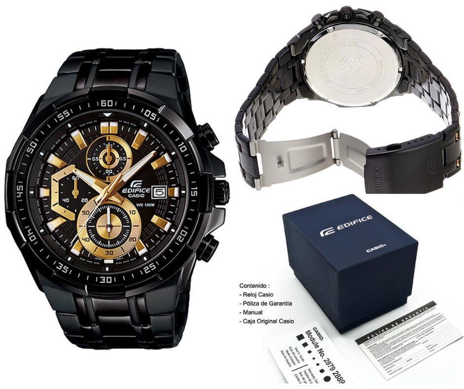 Delivery 539 Bk Reloj Edifice Original Nuevo Caja Casio En Efr lcu5F13JTK