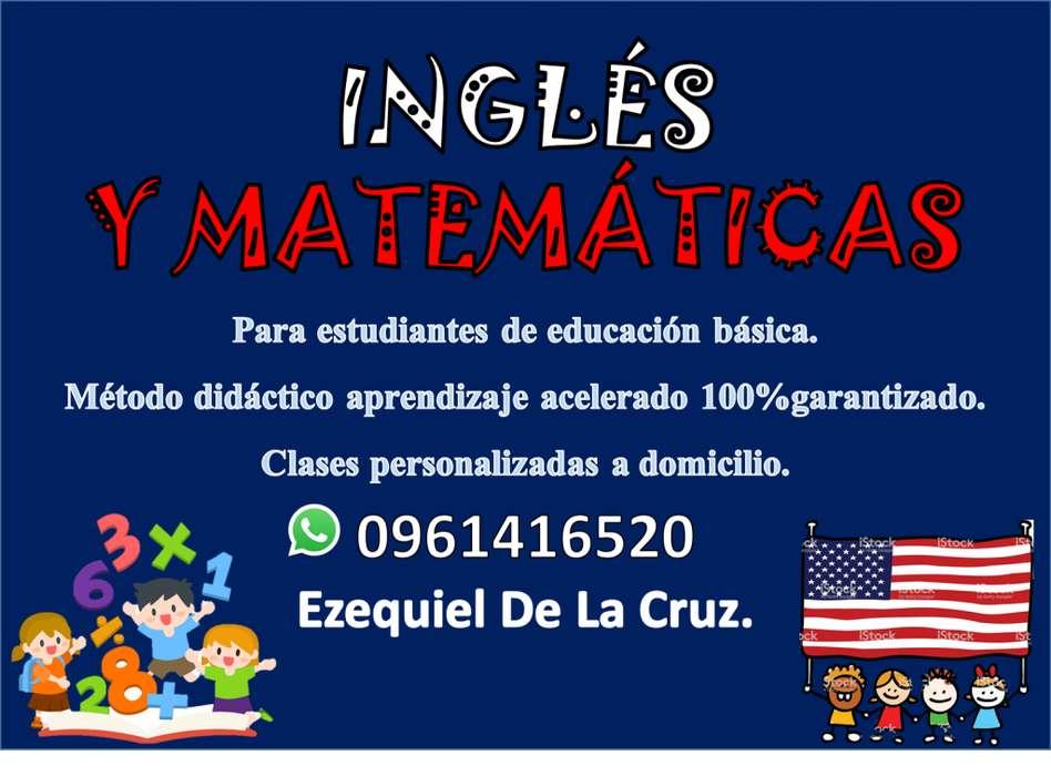 Clases de inglés y matemáticas personalizadas