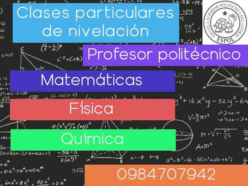 Se dictan clases a domicilio de Matemáticas, Física y Química