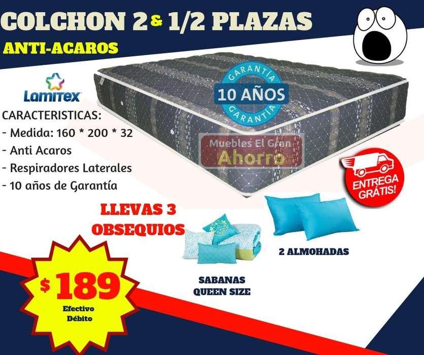 OFERTA Colchón Dos Y Media Plazas MAS Sabanas MAS 2 Almohadas MAS Entrega SIN RECARGO QUITO Y VALLES.