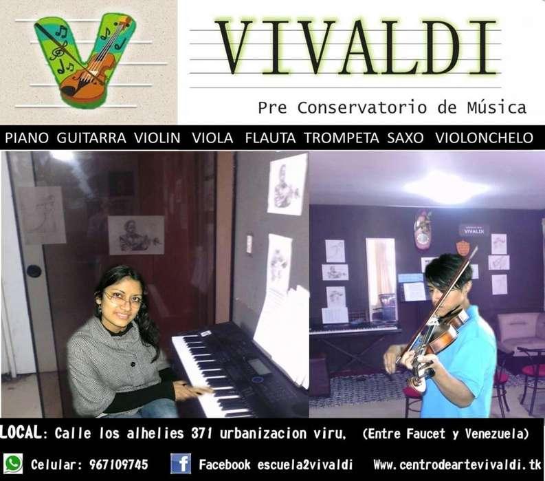 flauta traversa violin guitarra trompeta saxo viola piano clases de musica