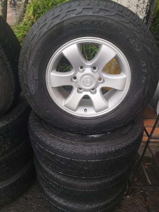 Juego de Rines Toyota <strong>llanta</strong>s Pirelli