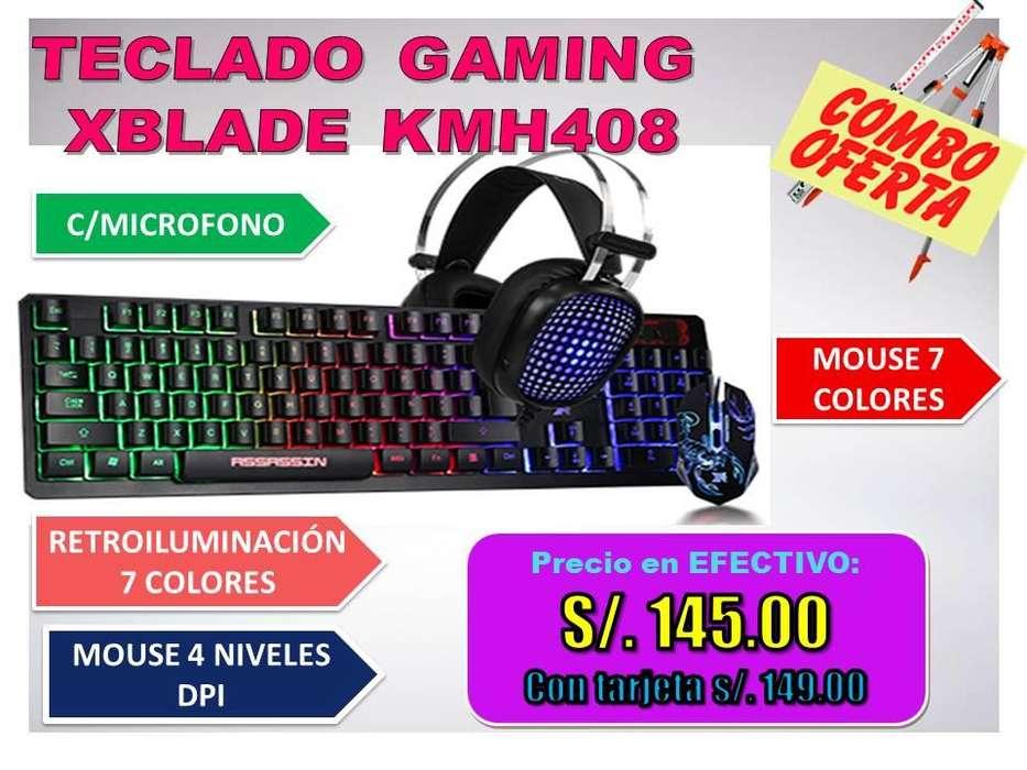 TECLADO GAMING XBLADE KMH408