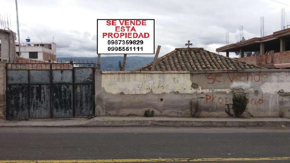TERRENO DE VENTA EN LA AV. BOLIVARIANA POR MERCADO MAYORISTA AMBATO