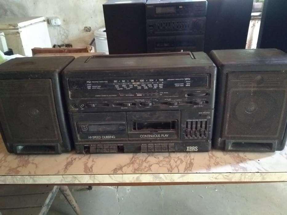 Televisor,equipo de musica, 2 codificadores,radio AM-FM,