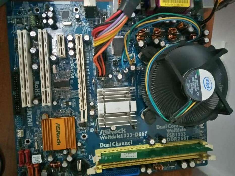board intel asrock dr2 procesador 1.60 ghz