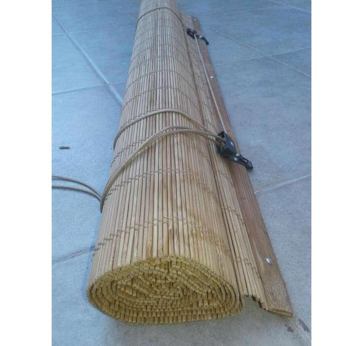 Cortina Enrollable De Bambu. 190 x 80