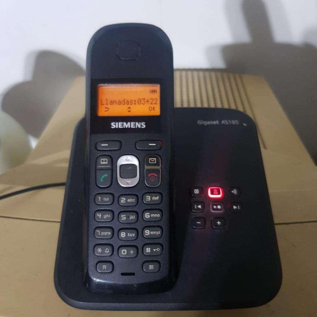 Teléfono Inalámbrico Siemens As185. Con Contestador Aut.