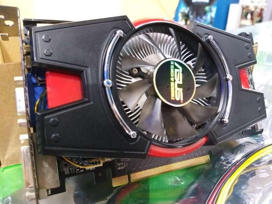 tarjeta aceleradora grafica de video asus gtx 550ti ddr5 juegos gaming gamer