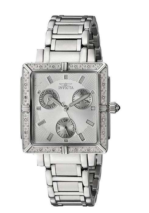 Reloj Invicta de mujer con cristales nuevo. Relojes mujer Fossil Guess Bulova