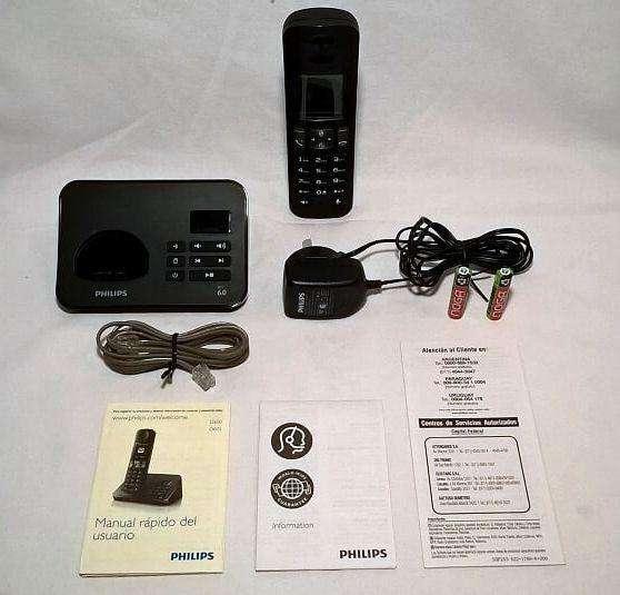 Teléfono Inalámbrico Phillips Con Contestador Modelo D605. Tope de línea. Completa gama de funciones