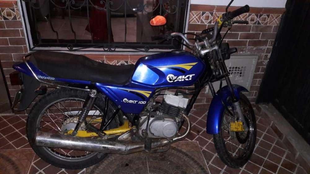 Vendo Moto Akt 100 2008 Papeles Al Dia