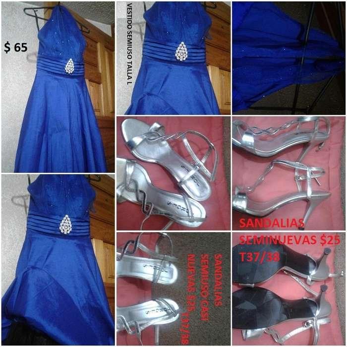 Vendo vestido azul americano como nuevo