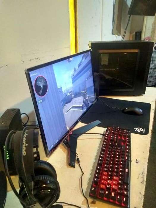 <strong>pc</strong> Gamer Ryzen 5 1600x 1050ti strix Monitor 24 75hz 1ms
