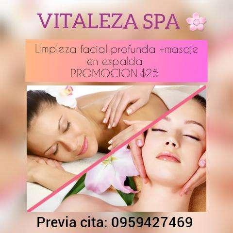 Limpieza facial masaje en espalda promocion 25