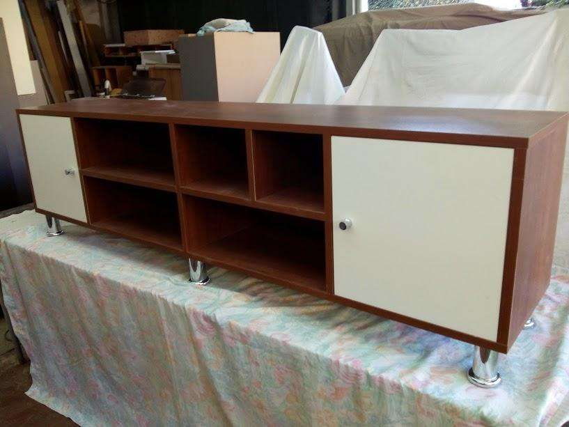 mueble para tv de melamina