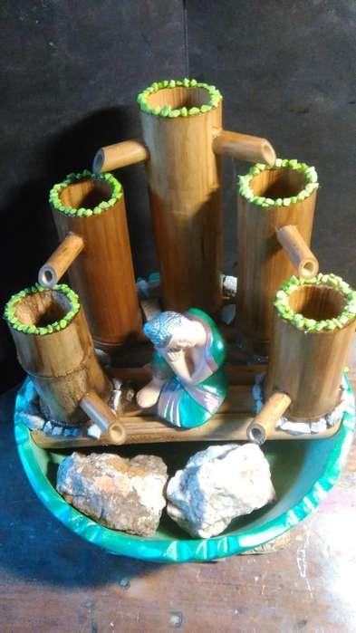 Fuentes de agua, estatuas decoradas