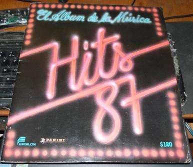 VENDO ALBUN panini CON ESPECTACULARES FOTOGRAFIAS DE ARTISTAS CANTANTES HITS 87 Hits año 1987