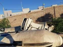 Semirrigido Motor Johnson 35hp y trailer