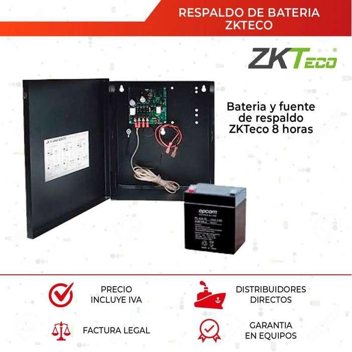 Fuente De Poder Con Respaldo De Bateria. Bateria 4a. Zkteco. Bateria Recargable. CCTV. Alarma. UPS
