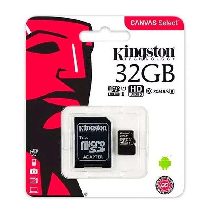 Micro Sd Kingston 32gb C10 80mbs Canvas Zona Alto Rosario BLASTER PC