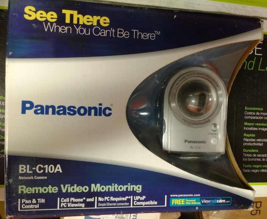 Cámara marca Panasonic. Sin necesidad de PC. En cualquier lugar donde quiera vigilar bodega niños o adultos mayores.