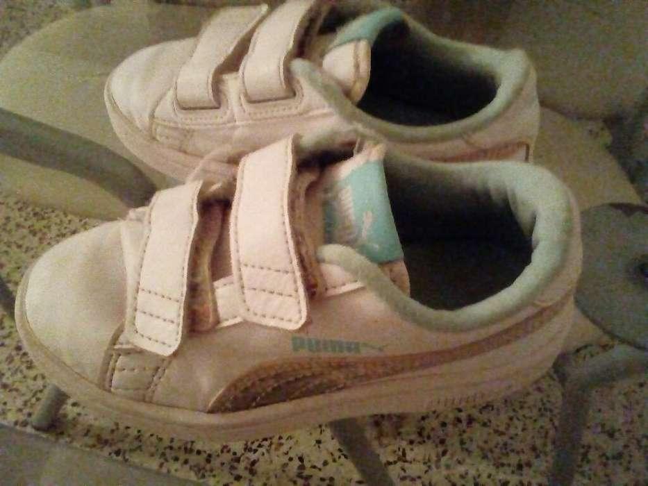 Zapatillas Pumas de Nena Nro 27 Impecabl