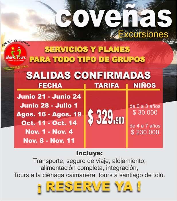 Excursion a Coveñas Cel. 301 728 7639