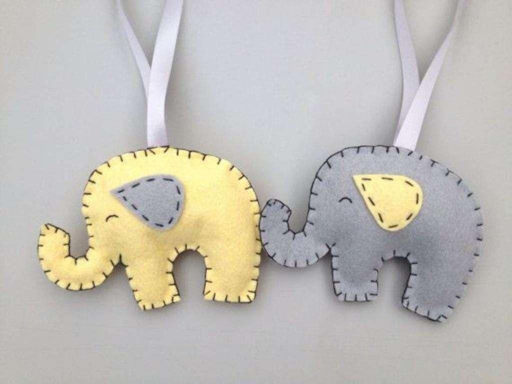 Guirnalda de Elefantes Colores a Elecc