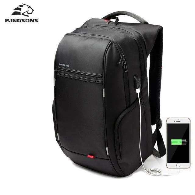 <strong>mochila</strong> Ejecutiva KINGSONS Porta Laptop 14, 15.6 y 17 Carga USB