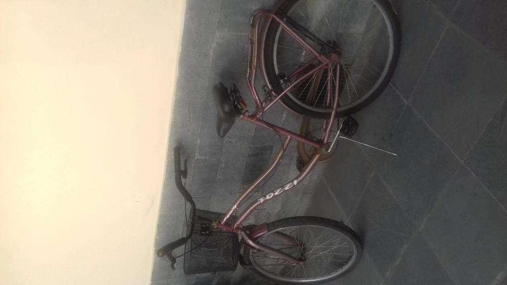 bicicleta de mujer con canasto