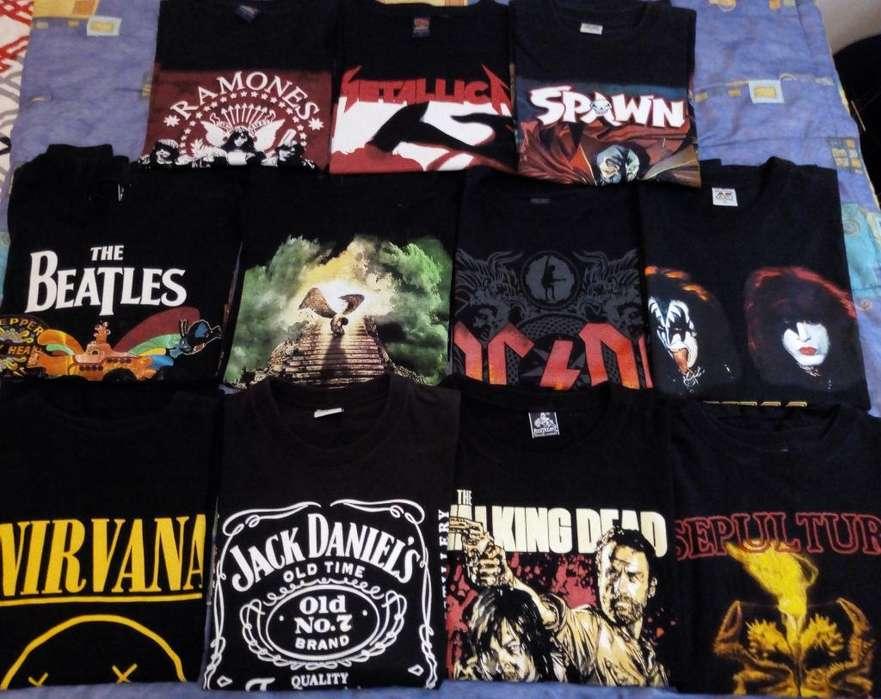 Lote Camisetas Y Busos Rock